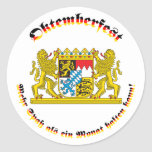 Oktemberfest MIT bayrischem Grosswappen Runder Sticker