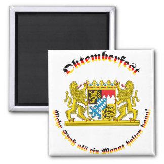 Oktemberfest MIT bayrischem Grosswappen Quadratischer Magnet