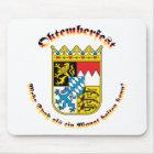 Oktemberfest MIT bayrischem Wappen Mousepad