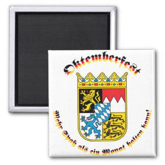 Oktemberfest MIT bayrischem Wappen Quadratischer Magnet