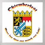 Oktemberfest mit den bayerischen Armen Posterdrucke
