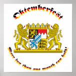Oktemberfest mit den bayerischen größeren Armen Plakatdruck