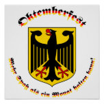 Oktemberfest MIT deutschem Wappen Plakate