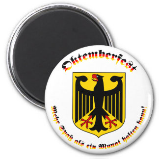 Oktemberfest MIT deutschem Wappen Runder Magnet 5,1 Cm