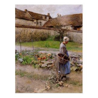 Oktober die Kürbise Carl Larsson Postkarte