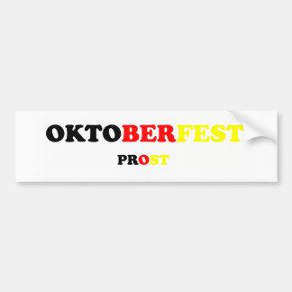 Oktober Fest Prost Autoaufkleber