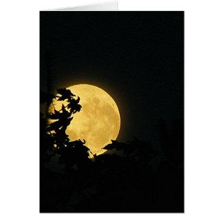 Oktober-Mond Karte