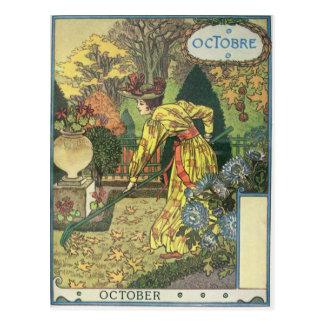 Oktober Postkarte