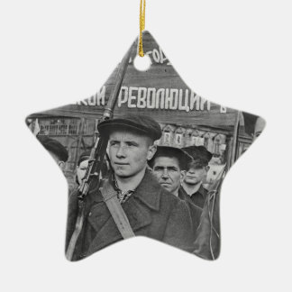 Oktober-Revolution Keramik Stern-Ornament