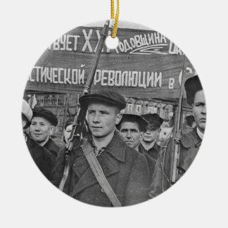 Oktober-Revolution Rundes Keramik Ornament