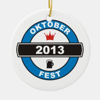 Oktoberfest 2013 rundes keramik ornament