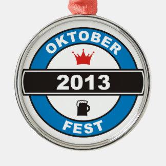 Oktoberfest 2013 silbernes ornament