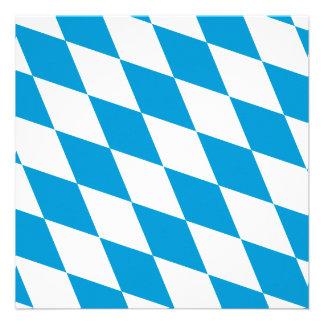 Oktoberfest Bayern-Farben Personalisierte Einladungskarten