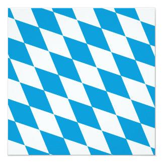 Oktoberfest, Bayern-Farben Personalisierte Einladungskarte