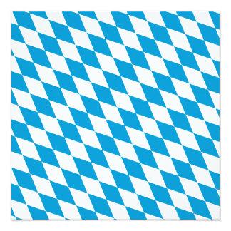 Oktoberfest, Bayern-Farben Quadratische 13,3 Cm Einladungskarte