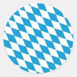 Oktoberfest, Bayern-Farben Runder Aufkleber