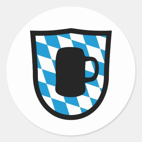 Oktoberfest Bayern Runder Aufkleber