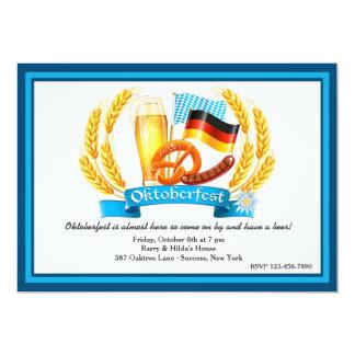 Oktoberfest Bestandteil-Einladung 12,7 X 17,8 Cm Einladungskarte