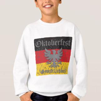 Oktoberfest beunruhigte Flagge Sweatshirt