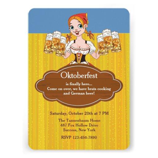 Oktoberfest Bier-Einladung