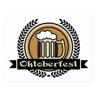 Oktoberfest Bier-Ikone oder Aufkleber Postkarte