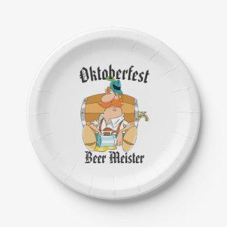 Oktoberfest Bier Meister Pappteller