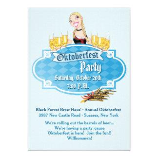 Oktoberfest Bier mit einer Lächeln-Einladung 12,7 X 17,8 Cm Einladungskarte
