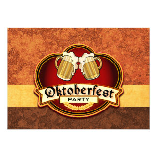 Oktoberfest Bier-Party-Doppelt-Tassen-Toast Ankündigungskarten