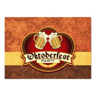 Oktoberfest Bier-Party-Doppelt-Tassen-Toast 12,7 X 17,8 Cm Einladungskarte