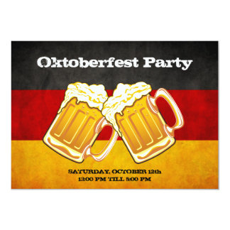 Oktoberfest Bier-Party - Grunge-Deutschland-Flagge