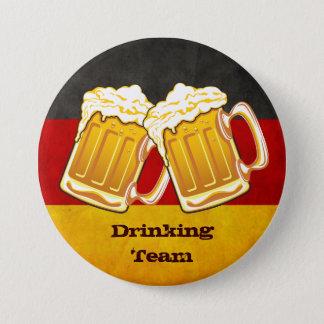 Oktoberfest Bier-Party - trinkendes Team Runder Button 7,6 Cm