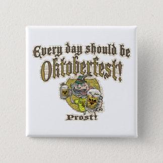 Oktoberfest Bier-Typ Quadratischer Button 5,1 Cm