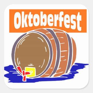 Oktoberfest Bierfaß Quadratsticker