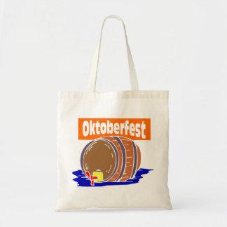 Oktoberfest Bierfaß Budget Stoffbeutel