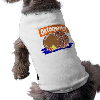Oktoberfest Bierfaß Hunde T Shirts