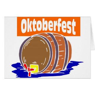 Oktoberfest Bierfaß Grußkarte