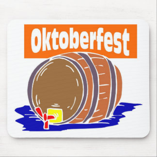 Oktoberfest Bierfaß Mousepads