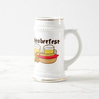 Oktoberfest Bratwurst u. Bier Bierglas