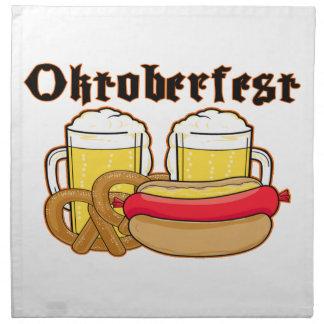 Oktoberfest Bratwurst u. Bier Stoffserviette