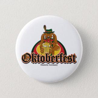 Oktoberfest Dackel Runder Button 5,1 Cm