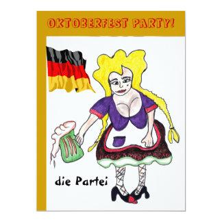Oktoberfest deutsche Bier-Party Einladung 16,5 X 22,2 Cm Einladungskarte