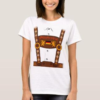 Oktoberfest deutscher Lederhosen-T - Shirt