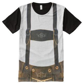Oktoberfest DeutscherLederhosen T-Shirt Mit Bedruckbarer Vorderseite