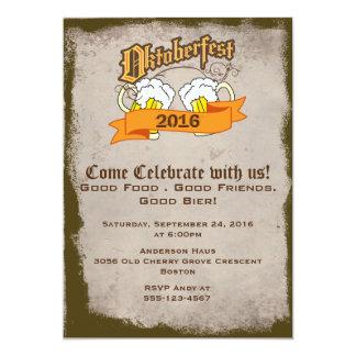 Oktoberfest deutsches Festival-Biersteins-Party 12,7 X 17,8 Cm Einladungskarte