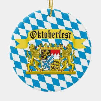 Oktoberfest deutsches Totenbahren-Festival Rundes Keramik Ornament