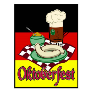 Oktoberfest Deutschland Oktober Bier Deutschland Postkarte