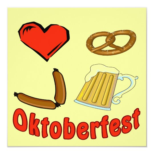 Oktoberfest Deutschland Oktober Bier Deutschland Quadratische 13,3 Cm Einladungskarte