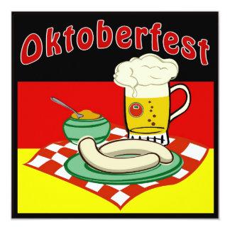 Oktoberfest Deutschland Quadratische 13,3 Cm Einladungskarte