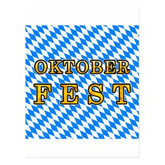 """Oktoberfest"" (dunkle Kontur) Postkarte"