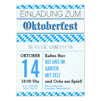 Oktoberfest Einladung